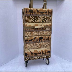 JADE TAPESTRY SAFARI ANIMAL PRINT TRAVEL BAG